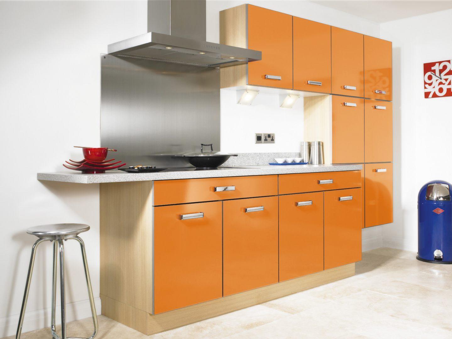 Armarios de cocina naranjas im genes y fotos - Cajoneras de cocina ...