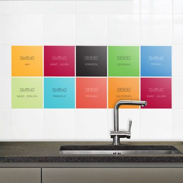 Azulejos adhesivos de colores im genes y fotos - Pintura para azulejos de bano ...