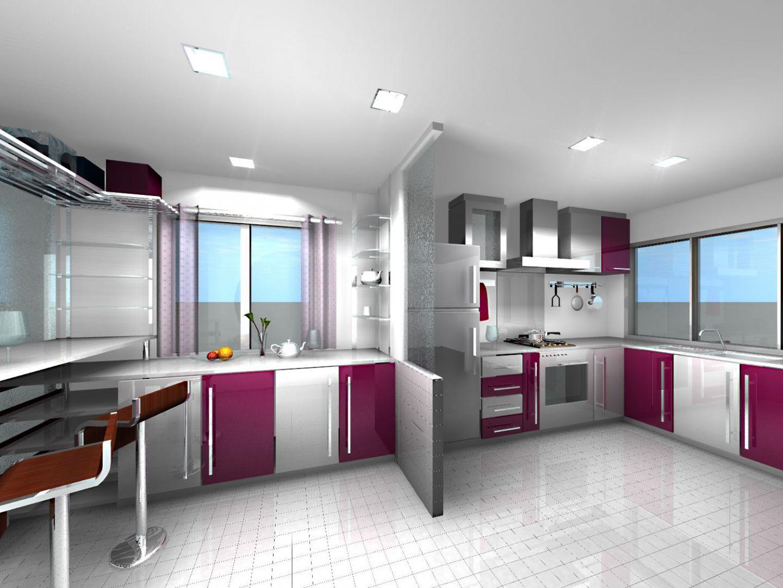 Cocina de dise o moderno im genes y fotos - Relojes para cocinas modernas ...