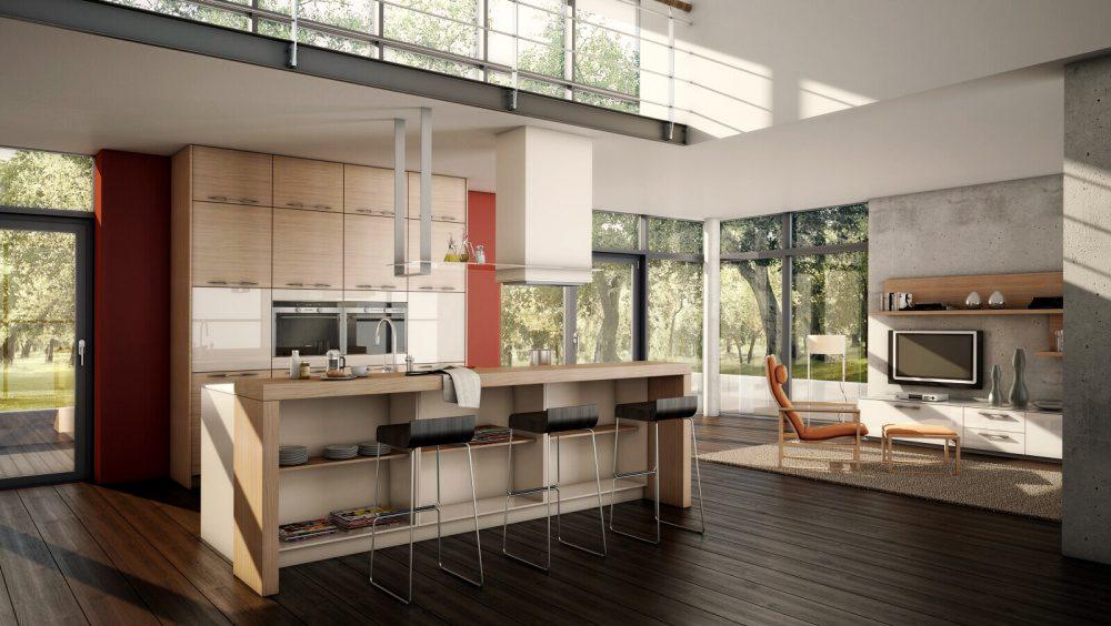 Cocina office tipo loft im genes y fotos for Casa moderna tipo loft