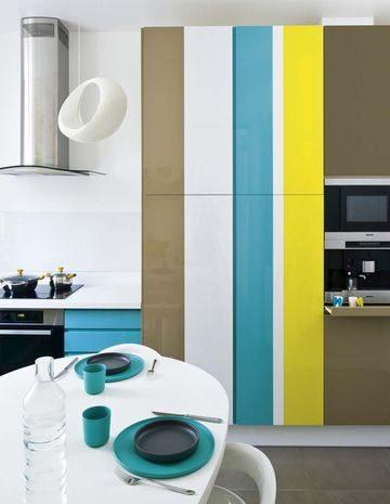 Muebles marrones amarillos azules y blancos im genes for Muebles de cocina amarillos